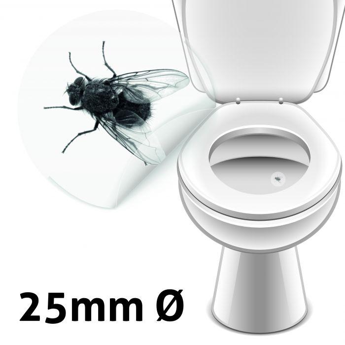 Toalett klistremerker bedrer treffsikkerheten